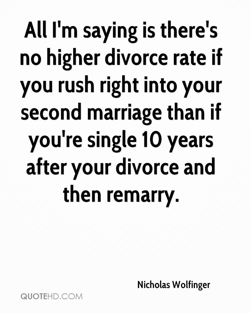 Nicholas Wolfinger Marriage Quotes | QuoteHD