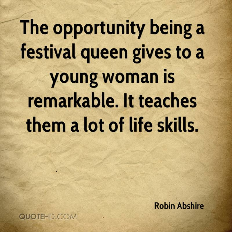 The opportunity being a festival queen gives to a young woman is remarkable. It teaches them a lot of life skills.
