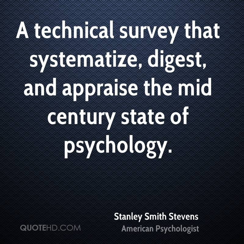 A technical survey that systematize, digest, and appraise the mid century state of psychology.
