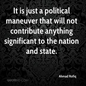 Ahmad Rofiq - It is just a political maneuver that will not contribute anything significant to the nation and state.
