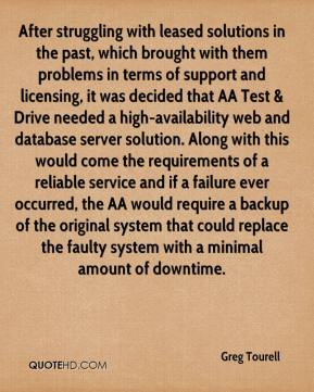 Greg Tourell - After struggling with leased solutions in the past, which brought with them problems in terms of support and licensing, it was decided that AA Test & Drive needed a high-availability web and database server solution. Along with this would come the requirements of a reliable service and if a failure ever occurred, the AA would require a backup of the original system that could replace the faulty system with a minimal amount of downtime.