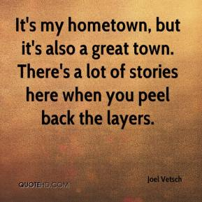 my home town Lyrics to my hometown by bruce springsteen: i was eight years old and running with a dime in my hand / into the bus stop to pick up a paper.