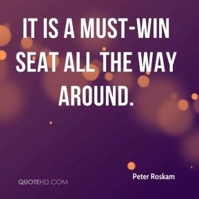 Peter Roskam  - It is a must-win seat all the way around.