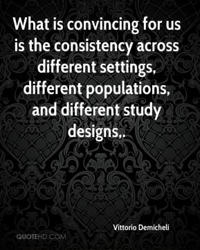 What is convincing for us is the consistency across different settings, different populations, and different study designs.