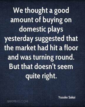 We thought a good amount of buying on domestic plays yesterday suggested that the market had hit a floor and was turning round. But that doesn't seem quite right.