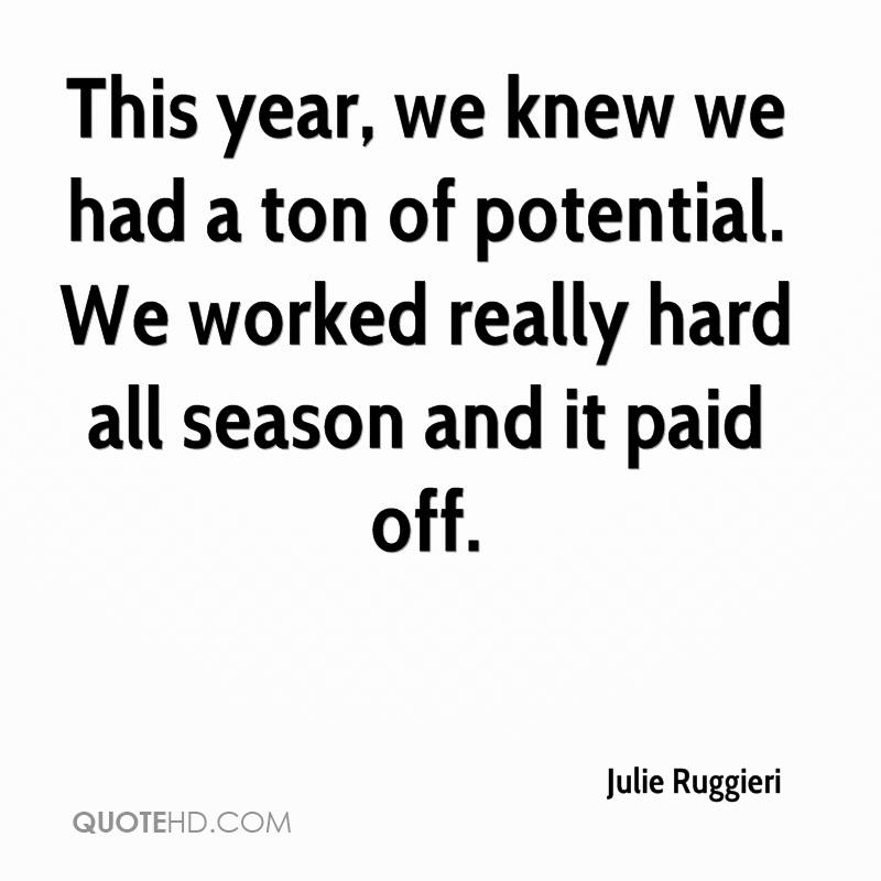 This year, we knew we had a ton of potential. We worked really hard all season and it paid off.