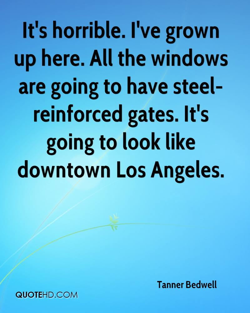It's horrible. I've grown up here. All the windows are going to have steel-reinforced gates. It's going to look like downtown Los Angeles.