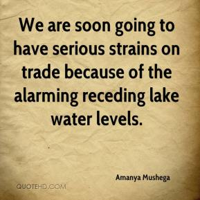 Amanya Mushega - We are soon going to have serious strains on trade because of the alarming receding lake water levels.
