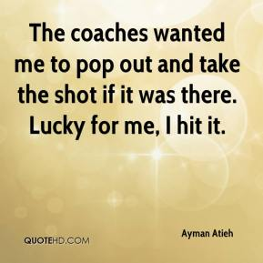 Ayman Atieh - The coaches wanted me to pop out and take the shot if it was there. Lucky for me, I hit it.