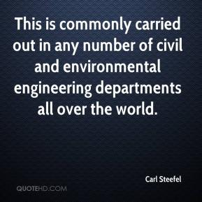 Carl Steefel - This is commonly carried out in any number of civil and environmental engineering departments all over the world.