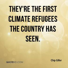 They're the first climate refugees the country has seen.