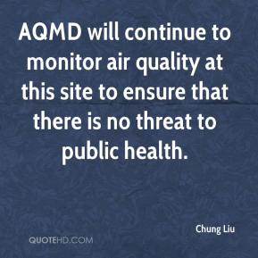 Chung Liu - AQMD will continue to monitor air quality at this site to ensure that there is no threat to public health.