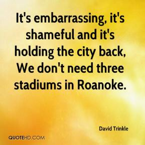 David Trinkle - It's embarrassing, it's shameful and it's holding the city back, We don't need three stadiums in Roanoke.