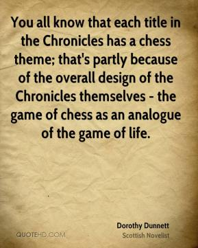 You all know that each title in the Chronicles has a chess theme; that's partly because of the overall design of the Chronicles themselves - the game of chess as an analogue of the game of life.