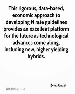 Gyles Randall - This rigorous, data-based, economic approach to developing N rate guidelines provides an excellent platform for the future as technological advances come along, including new, higher yielding hybrids.