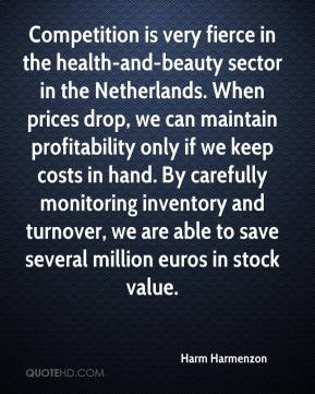 Harm Harmenzon - Competition is very fierce in the health-and-beauty sector in the Netherlands. When prices drop, we can maintain profitability only if we keep costs in hand. By carefully monitoring inventory and turnover, we are able to save several million euros in stock value.