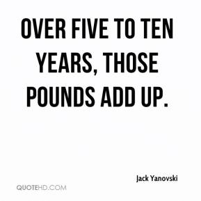 Jack Yanovski - Over five to ten years, those pounds add up.