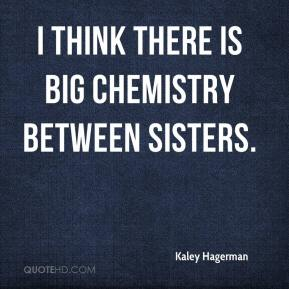 I think there is big chemistry between sisters.