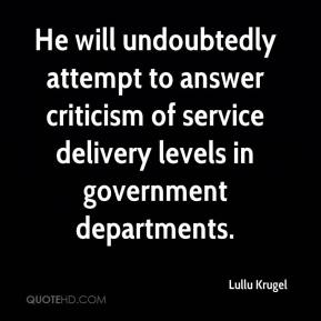 Lullu Krugel  - He will undoubtedly attempt to answer criticism of service delivery levels in government departments.