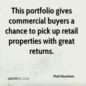 Mark Kleynhans  - This portfolio gives commercial buyers a chance to pick up retail properties with great returns.