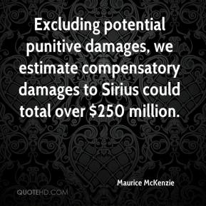 Maurice McKenzie  - Excluding potential punitive damages, we estimate compensatory damages to Sirius could total over $250 million.