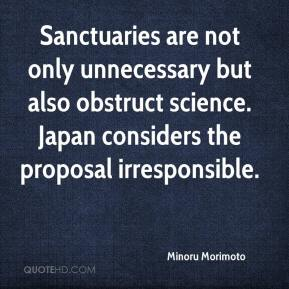 Minoru Morimoto  - Sanctuaries are not only unnecessary but also obstruct science. Japan considers the proposal irresponsible.