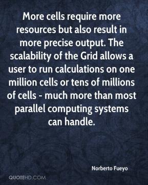 More cells require more resources but also result in more precise output. The scalability of the Grid allows a user to run calculations on one million cells or tens of millions of cells - much more than most parallel computing systems can handle.