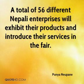 Punya Neupane  - A total of 56 different Nepali enterprises will exhibit their products and introduce their services in the fair.