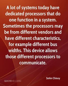 A lot of systems today have dedicated processors that do one function in a system. Sometimes the processors may be from different vendors and have different characteristics, for example different bus widths. This device allows those different processors to communicate.