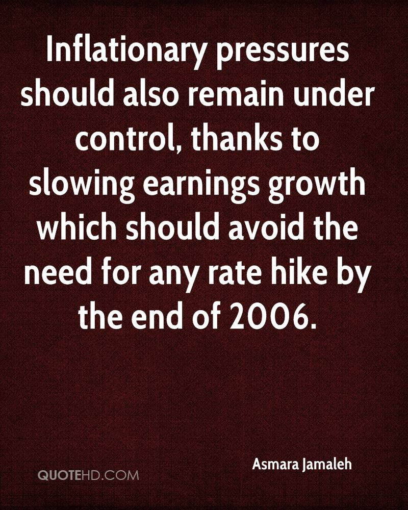 Inflationary pressures should also remain under control, thanks to slowing earnings growth which should avoid the need for any rate hike by the end of 2006.