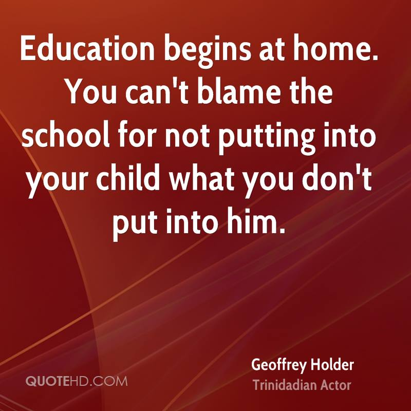 education begins at home essay