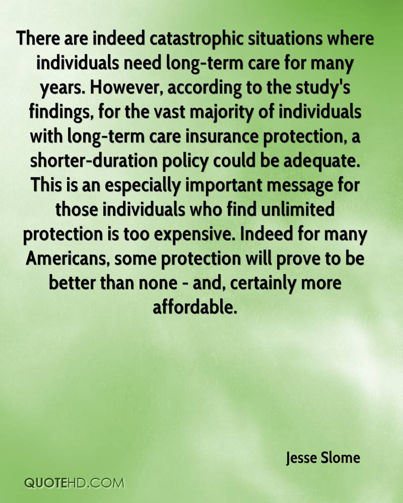 Long Term Care Insurance Quotes Jesse Slome Quotes  Quotehd