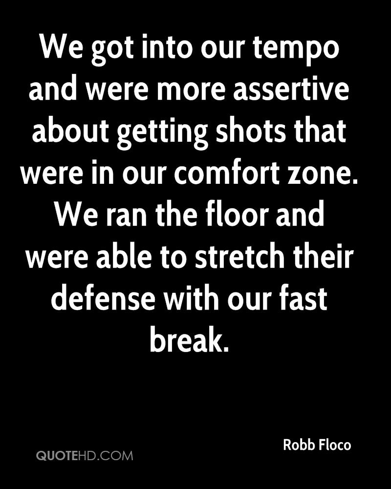 We got into our tempo and were more assertive about getting shots that were in our comfort zone. We ran the floor and were able to stretch their defense with our fast break.