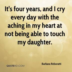 Barbara Reboratti - It's four years, and I cry every day with the aching in my heart at not being able to touch my daughter.