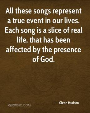 All these songs represent a true event in our lives. Each song is a slice of real life, that has been affected by the presence of God.