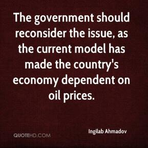Ingilab Ahmadov - The government should reconsider the issue, as the current model has made the country's economy dependent on oil prices.