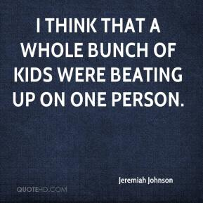 I think that a whole bunch of kids were beating up on one person.