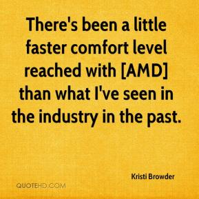 Kristi Browder  - There's been a little faster comfort level reached with [AMD] than what I've seen in the industry in the past.
