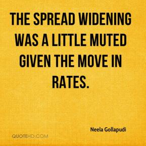 Neela Gollapudi  - The spread widening was a little muted given the move in rates.