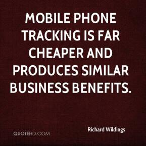 Richard Wildings  - Mobile phone tracking is far cheaper and produces similar business benefits.
