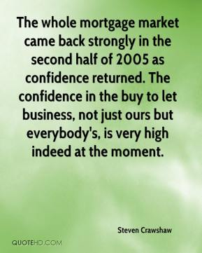 Steven Crawshaw  - The whole mortgage market came back strongly in the second half of 2005 as confidence returned. The confidence in the buy to let business, not just ours but everybody's, is very high indeed at the moment.