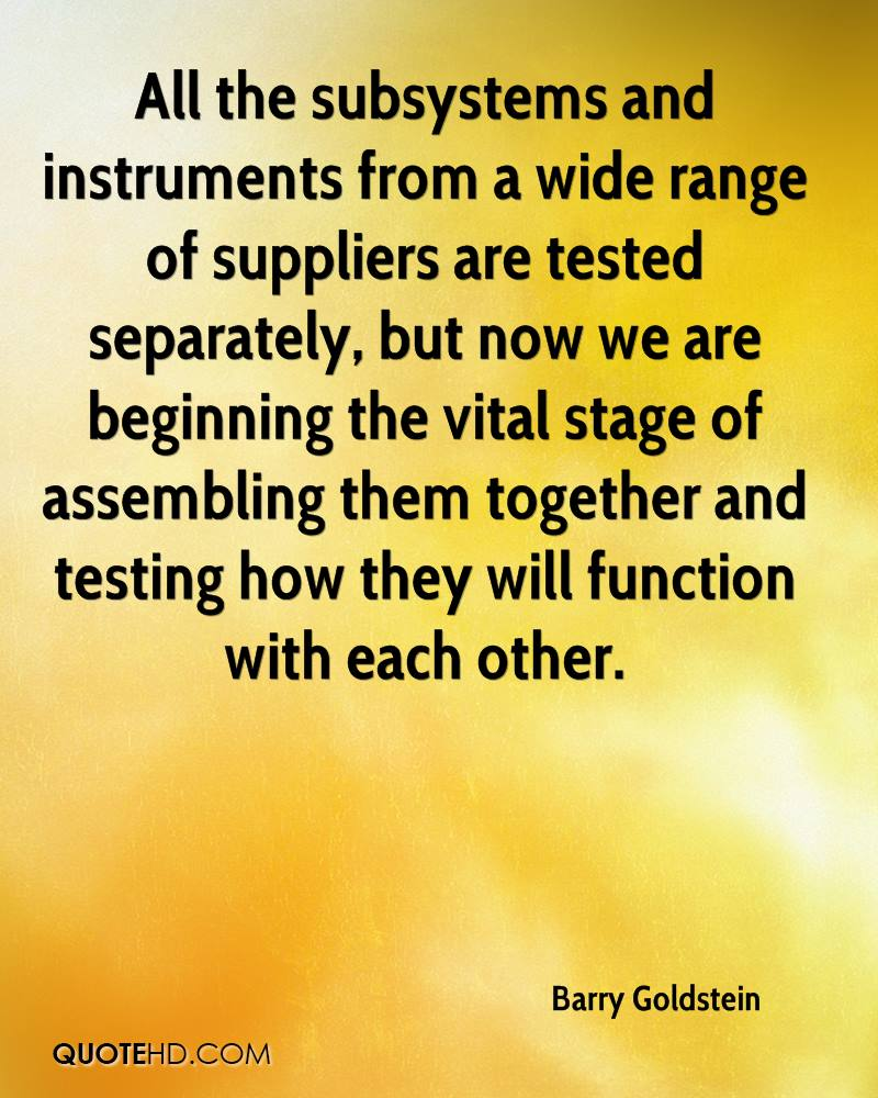 All the subsystems and instruments from a wide range of suppliers are tested separately, but now we are beginning the vital stage of assembling them together and testing how they will function with each other.
