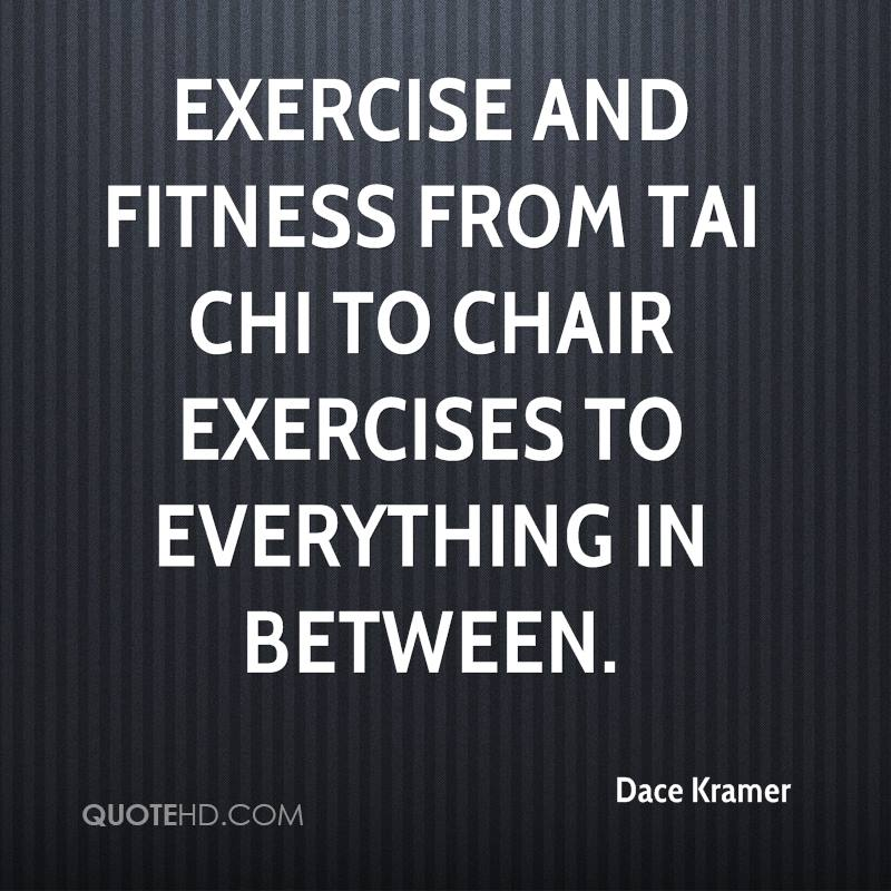 Exercise and fitness from Tai Chi to chair exercises to everything in between.