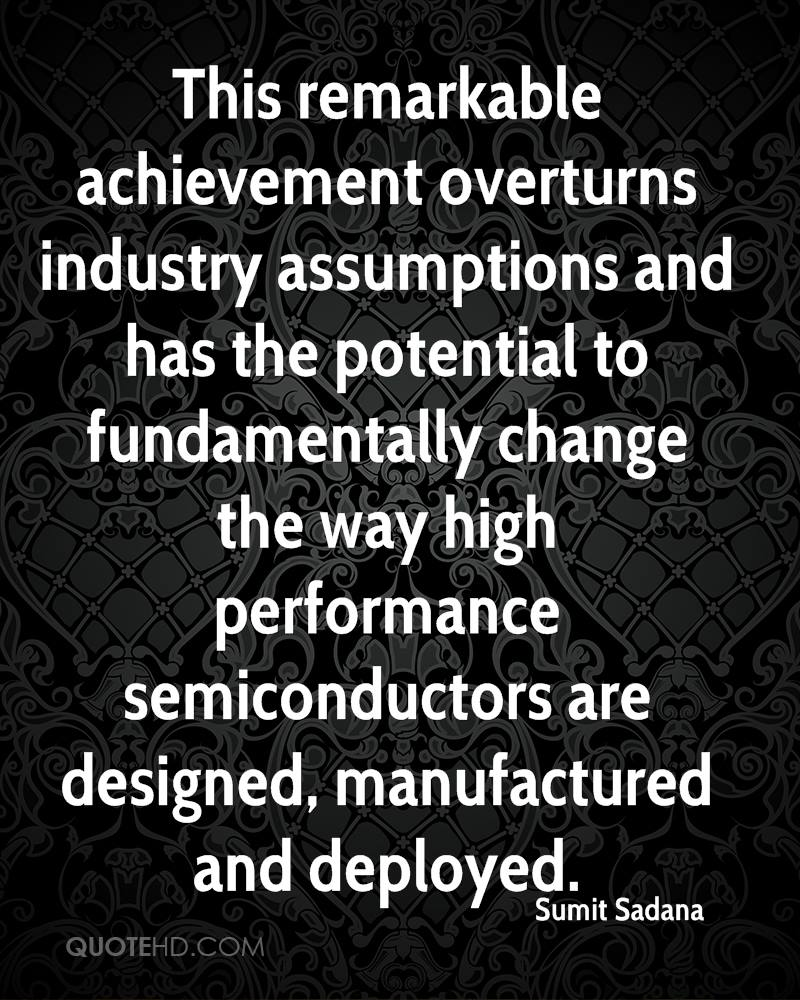 This remarkable achievement overturns industry assumptions and has the potential to fundamentally change the way high performance semiconductors are designed, manufactured and deployed.