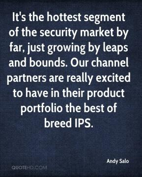 Andy Salo - It's the hottest segment of the security market by far, just growing by leaps and bounds. Our channel partners are really excited to have in their product portfolio the best of breed IPS.