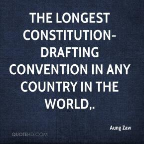 The longest constitution-drafting convention in any country in the world.
