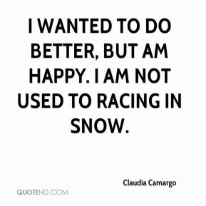 Claudia Camargo - I wanted to do better, but am happy. I am not used to racing in snow.