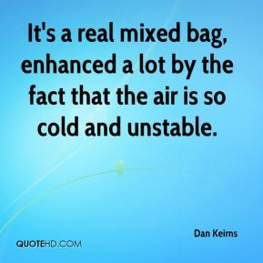 Dan Keirns - It's a real mixed bag, enhanced a lot by the fact that the air is so cold and unstable.