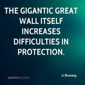Li Shuwang  - The gigantic Great Wall itself increases difficulties in protection.