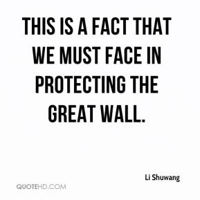 Li Shuwang  - This is a fact that we must face in protecting the Great Wall.